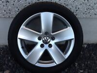 17INCH 5/112 VW PASSAT SPORTS WITH GOOD TYRES FIT AUDI VW SEAT SKODA ETC