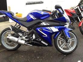 £1950 Yamaha yzf r125 low mileage 9469k mot October 2018 .very nice bike cheep tax & good on petrol