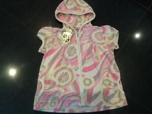 NWT Juicy Couture New Genuine Ladies Small Pink Towelling Hoody With