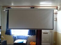 """Larger projector screen (120"""") and DLP Projector"""