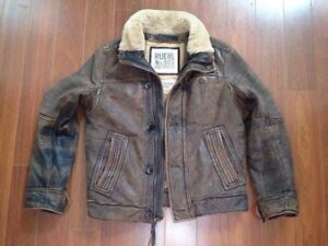 High end Abercrombie & Fitch/ Ruehl men's Langdon leather jacket
