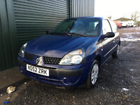 2003 52 RENAULT CLIO 1.2 BLUE MOT 03/17 (PART EX WELCOME)