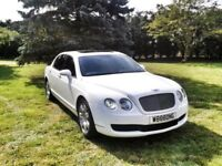 bentley flying spur white chauffeur driven Service