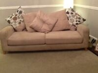 Lovely 3 seater sofa with foot stool also armchair sold separately