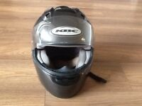 Motorbike helmet ,Jacket, Trousers, Gloves, Reflective Jacket, Stand rest and Wheel lock