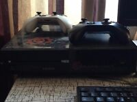 CLEARANCE Xbox One 500gb 2 controllers 3 games