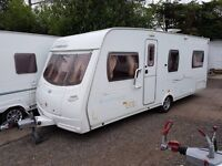 Lunar Freelander EB 4 berth caravan 2007 FIXED BED, MOTOR MOVER, Awning !!