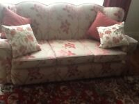 Fifties 3seater sofa frame excellent needs reupholstering