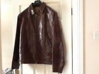 *Bargain* Next Brown Leather Jacket (Mens Large) *Excellent Condition* £50!