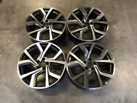"18 19"" Inch VW Clubsport Style Wheels VW Golf MK5 MK6 MK7 Audi A3 Seat Leon Caddy 5x112 GTI"