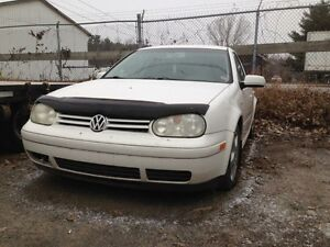 Pieces golf 2004 mk4 BLANC 2.0L manuel