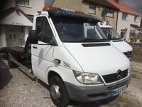 MERCEDES SPRINTER 413 CDI RECOVERY TRUCK TRANSPORTER 4.6 TON