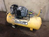 black line 3hp compressor 100 litre tank few month old