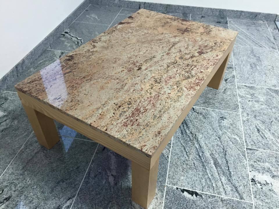 Marmortisch tischgestell buche massiv couchtisch for Beistelltisch stein
