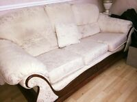 3 piece suite with 2 chairs. very good condition. hardly ever used !!!