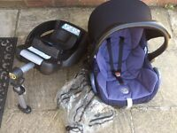 Maxi-Cosi Isofix and Cabriofix Baby Car Seat (with sunshade and rain cover)