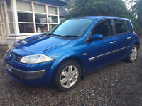 2006, 55 plate megane m,o,t june 97000 mile's drives superb 'trade in so £799 grab a bargain !