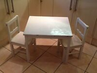 IKEA children table with 2 chairs
