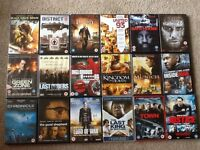 18 DVDs all certificate 15 all in excellent condition. Genre is Action/thriller/war