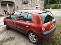Renault Clio 2004 Spares and repairs