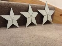 Star mirrors - set of three