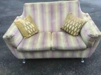 2 Seater striped sofa