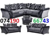 Black and Grey corner or 3 seater and 2 seater sofa This weekend