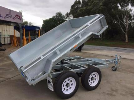 8x5 Heavy Duty Tandem Axle Galvanised Tipper Trailer