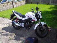 Very clean learner legal Honda CB125F motorbike.