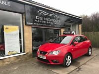 2014 SEAT IBIZA COUPE TOCA SAT NAV 1.4 PETROL RED