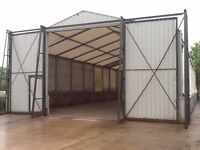 30ft x 80ft rub tent, marquee, shed, stables, portable building, garage, store, container