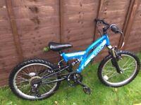 "Trax 20"" blue mountain bike"