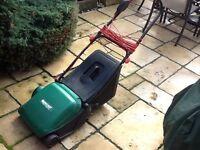Electric cylinder cut lawn mower