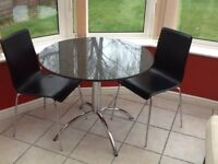 Kitchen Bistro Dining Table and Two Chairs