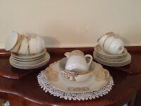RC China Tea Service 5 Cups, 6 Plates, CakePlate, Milk Jug and Sugar Bowl