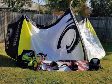 Complete Kitesurfing kit including kite, board, harness etc