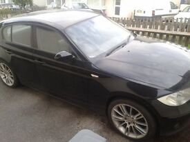 BMW 116i with service history. spares or repair.
