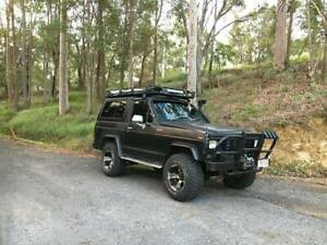 "SWB NISSAN / DATSUN PATROL lifted, 33"" roof racks, swap or sell"