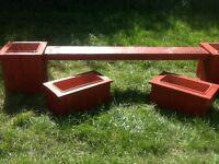 Garden planter/ bench