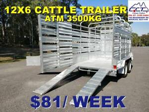 Take Home Layby! 12x6 Cattle Trailer ATM 3500KG