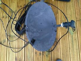 sky dish, 20m cable,sky hd box plus remote and conectors