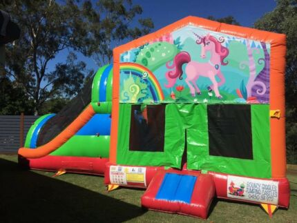 Unicorns and Rainbows Jumping Castle for hire