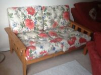 Two seater settee, suitable student/conservatory/ bedroom/ living room. Ikea