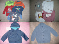 Bundle of 46 baby boy clothes 12-18mths, incl. Peppa Pig (George) and Snoopy. All good brands.