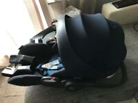 Cybex cloud Q car seat, base, adapters and raincover