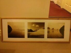 Beach scenes print in frame