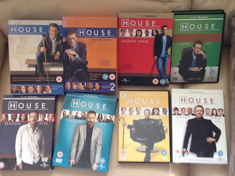 House M.D complete box sets 1-8 the whole series
