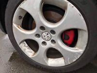 "Vw golf polo 17"" monza Michelin tyres genuine vw"