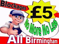 """£5"" Fixed Rates ""£5"" (LOW COST BLOCKED TOILET & DRAIN CLEARING) 24hr 7day fixed rates start from £5"