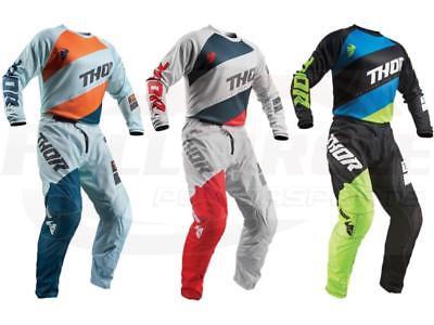 Thor MX Sector Shear Youth Jersey & Pant Combo Set ATV BMX Dirt Bike Riding Gear (Dirt Bike Riding Gear)
